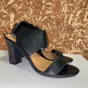 Black Franco Sarto Sandals Heels • Block Heel • 8